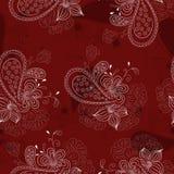 Vinous Floral Pattern Stock Images