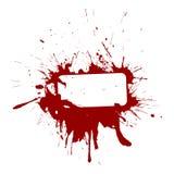 Vinous vignette. A vignette with grungy blots in vinous colours Royalty Free Stock Image
