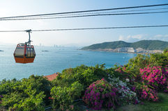 Vinpearl funicular cable car Nha Trang, Vietnam Royalty Free Stock Images