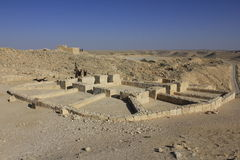 Vinpress på den forntida Avdat roman byn royaltyfri foto
