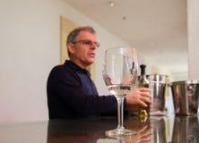 Vinprovning på Sterling Winery Napa Ca arkivbilder