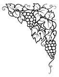Vinranka och sidor, hörn Vektor Illustrationer