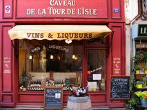 Vins & Liqueurs Store during Daytime Royalty Free Stock Images