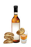 Vinsanto and cantuccini. Vinsanto and almond biscuits, typical Tuscan products Stock Photo
