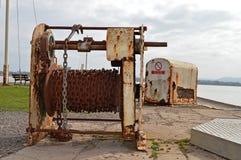 Vinsch för skeppsdockaportar Royaltyfria Bilder