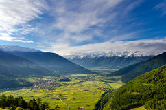 Vinschgau (Valle Venosta) in Spring Royalty Free Stock Photos