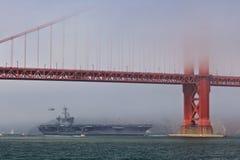 vinson строба несущей Карла моста воздушных судн золотистое Стоковая Фотография RF