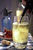 Vinspritzer som kyler drinken Royaltyfri Bild