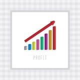 Vinst chart4 Arkivfoton