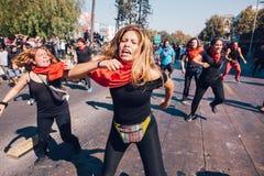 Vinst för studentprotestutbildning arkivbild