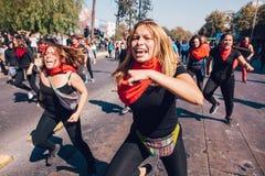 Vinst för studentprotestutbildning arkivbilder