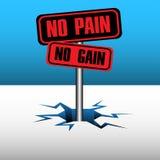 vinst inget smärtar vektor illustrationer