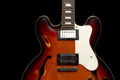 Vintace Hollowbody Guitar Royalty Free Stock Images