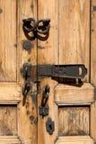Vintag door with locks Stock Images