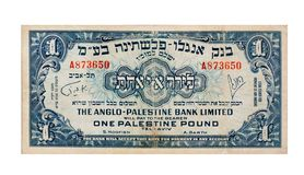 Vintag Palestina de rekening van 1 Pond royalty-vrije illustratie