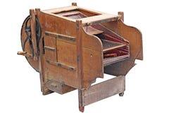 Vintage éventant la machine pour nettoyer le grain Photographie stock libre de droits