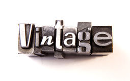 Vintage. Made from metal letters stock photos