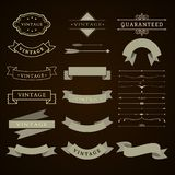 Collection set of web graphic decorative ribbons vintage vector illustration