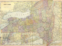 Vintage 1896 map of New York state Stock Photography