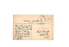 Vintage 1909 Anonymous Postcard Stock Images