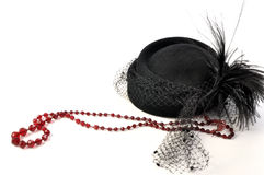 Vintage 1920 hat with feather Stock Photography
