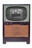 Vintage 1950 TV Television  Isolated on White Stock Image