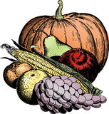 Vintage 1950s Harvest stock illustration