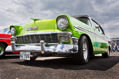 Vintage 1956 Green Chevrolet Bel Air Stock Image