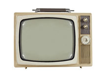 Vintage 1960's Portable Television. Isolated on white Stock Images