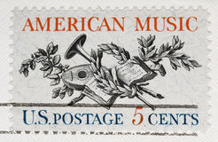 Vintage 1964 Postage Stamp American Music. This is a Vintage 1964 Postage Stamp  American Music Royalty Free Stock Photos