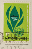 Vintage 1964 Postage Stamp united nations. This is a Vintage 1964 Postage Stamp  united nations Royalty Free Stock Images