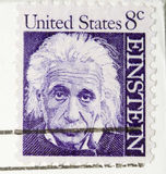 Vintage 1964  Stamp Albert Einstein Royalty Free Stock Image