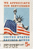 Vintage 1966  Stamp Appreciate Servicemen Bonds. This is a vintage 1966  Stamp Appreciate Servicemen Bonds Royalty Free Stock Image