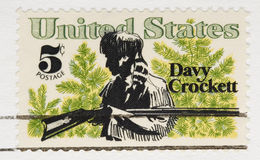 Vintage 1967  Stamp Davy Crockett Royalty Free Stock Photography