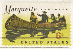 Vintage 1968 Stamp Marquette Explorer. This is a Vintage 1968 Stamp Marquette Explorer Stock Images