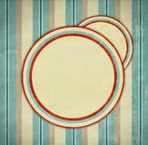 Vintage. Retro background with circles. Old paper texture Royalty Free Stock Photography