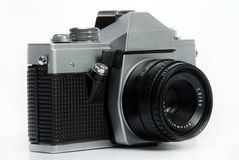 Vintage 35 mm Photo camera Royalty Free Stock Photography