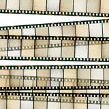 Vintage 35mm film stripes. Royalty Free Stock Photos