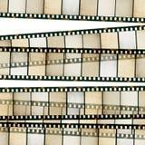 Vintage 35mm film stripes. Vintage 35mm film stripes background. Isolated on white vector illustration