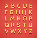 Vintage  3d alphabet Royalty Free Stock Images