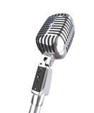 Vintage 3d microphone Stock Image