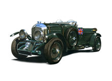 Vintage 4 and a half litre blower Bentley. Illustration of vintage blower Bentley c.1930 Royalty Free Stock Images