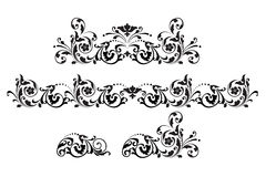 Vintage. Illustration with black and white ornament. vector illustration Stock Photo