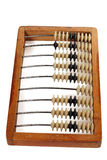 Vintage abacus. Isolated on white Stock Photography