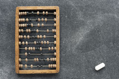Vintage abacus with chalk Royalty Free Stock Images