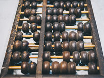 Vintage Abacus. Close up in perspective royalty free stock images