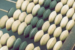 Vintage abacus fragment Stock Image