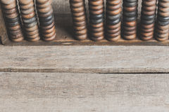 Vintage abacus. On wooden background Stock Photography