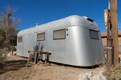 Vintage abandoned trailer in bombay beach california. Abandoned trailer home in bombay beach by the salton sea california usa Stock Photo
