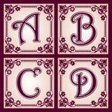 Vintage ABC. Part 1 Stock Image